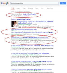 Casey Anthony Google Searches